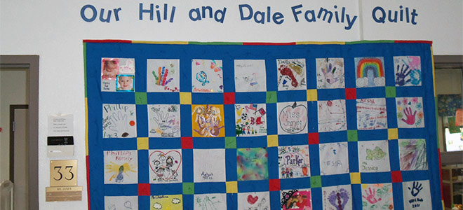 Hill and Dale Child Development Center - Family Quilt